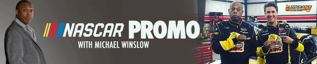 Michael Winslow films NASCAR promo